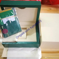 Wholesale watch parts for sale - luxury brand watch Green Original Box High quality gift watch box With certificate bag Card Papers KG For Rolex Watch Box fujimin003