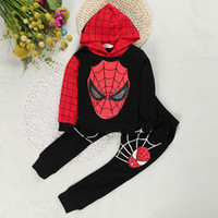 Wholesale Baby Spiderman Costumes - Spiderman Baby Boys Clothing Sets Sport Suit for Boys Clothes Spring Autumn Spider Man Cosplay Kids Costumes Clothes Boy hoodie