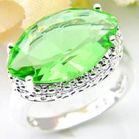Wholesale 925 sterling ring price - 2pcs lot Bulk Price Christmas Gift 925 Sterling Silver Horse eye Grass green Gems Ring R0609