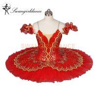 klassischer tutus groihandel-Red Paquita Klassische Professionelle Ballett Tutus Mädchen Spanisch Ballerina Nucracker Platte Bühne Kostüm Kinder BT8944E