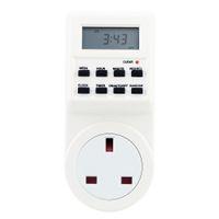 cronômetro de 24 horas venda por atacado-Digital LCD Eletrônico Plug-in Temporizador Programável 12/24 Horas Soquete Interruptor com Função de Verão Relógio Função Aleatória