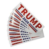 Wholesale Bedroom Sets - 2020 America President General Election Car Sticker Donald John Trump Vehicle Paster Autocar Creative Decoration 10pcs set CCA10167 200set