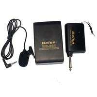зажимы для лацканов оптовых-Mini Microphone High Quility Portable Wired Transmitter Receiver Lavalier Lapel Clip Microphone System Support FM Nov24