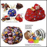 Wholesale Toy 43 - 43 Colors 61cm Kids Storage Bean Bags Plush Toys Beanbag Chair Stuffed Room Mats Portable Clothes Storage Bag Baby Play Mat CCA8483 20pcs
