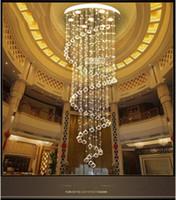 colgante de techo luces colgantes al por mayor-Modern Spiral Lighting Drop Chandelier Crystal Lámpara Colgante Luz de Techo Inicio