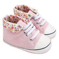 Wholesale kids shoe girl canvas pink for sale - Group buy Baby Shoes Newborn Infant Kids Soft Sole Print Canvas Sneaker Baby Boys Girls Casual First Walkers