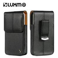 zte brieftasche großhandel-LUXMO Leder Holster Clip Gürteltasche Universal Gürteltasche für iPhone 5 SE LG ZTE Nokia Moto Luxus Bund Telefon Vertikale Fall