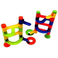 Wholesale Education Ball - Intelligence DIY Assembled Toy Developmental Track Ball Bearing Game Children Education Three Dimensional Maze The Conduit 1 95dq W