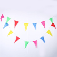 Wholesale Bunting String Flags - 1pc 10m Rainbow Wedding Bunting Flags String Banner Markets Party Birthday Christmas Decoraion christmas banner