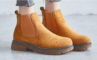 ingrosso scarpe da donna delle scarpe da donna-Stivaletti da donna moda casual elastico in pelle scamosciata Scarpe stile classico ripopular suded flats per donna zywb10