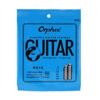Wholesale guitar strings free shipping for sale - Orphee RX15 Electric Guitar String Set Nickel Alloy Super Light Tension Guitar Accessories