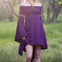 Plus Size Medieval Long Dress Maxi Vintage Rtro Short Sleeve Dresses Gowns  Gothic Renaissance Dress Womens Summer