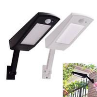 luces de palo al aire libre al por mayor-48 luces LED de sensor de movimiento Luces solares 900LM lámpara para pared de jardín al aire libre resistente al agua palo giratorio con cuatro modos