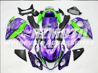 motorrad-kunststoff-kits großhandel-Neue Heiße ABS Kunststoff Motorrad Verkleidung Kits 100% Fit Für suzuki GSXR1300 Hayabusa 08 09 10 11 12 13 14 15 GSX-R1300 Lila F16