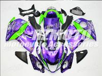 kits de plastico de moto al por mayor-Nuevo Hot plástico ABS Kits de Carenado moto 100% Fit para suzuki GSXR1300 Hayabusa 08 09 10 11 12 13 14 15 GSX-R1300 Purple F16