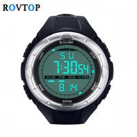 цифровые часы для дайвинга оптовых-Rovtop мода спортивные часы мужские женщины погружение 50 м цифровой светодиодной подсветкой спортивные часы водонепроницаемый повседневная Электроника наручные часы Z2