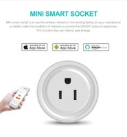 Wholesale time control switch - Mini Smart Home WIFI Power Plugs Compatible with Alexa Sonoff Wifi Socket Outlet Automation Phone App Timing Switch Remote Control US Plug