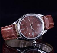 японские часы моды оптовых-2017 лучшие продажи Кожаный ремешок AAA качество люксовый бренд автоматические кварцевые часы дата мужская мода досуг спортивные часы для мужчин и женщин