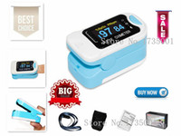 Wholesale pulse oximeter for sale - CONTEC Health Care CMS50NA Pulse Oximeter Fingertip blood oxygen saturation SpO2 PR monitor OLED CE Carry Case and Hanging Line