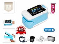 oksijen nabız oksimetresi toptan satış-CONTEC Sağlık CMS50NA Pulse Oksimetre Parmak kan oksijen doygunluğu, SpO2, PR monitör, OLED CE Taşıma çantası ve Asılı Hattı