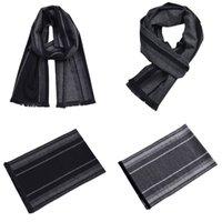 ingrosso sciarpa a maglia a righe-Sciarpa invernale da uomo a righe in cotone sintetico con collo a scialle maschile a maglia sciarpe a righe con nappe moda accessori uomo 3 colori