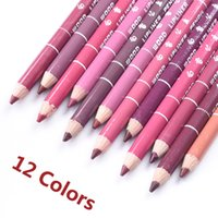 Wholesale Safe Brand Lip Pencil Kit Colors Waterproof New Long Lasting Lip Pen Batom Mate Lip Liner Make Up Tools Cm