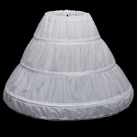 пальто оптовых-Последние дети юбки свадебные аксессуары невесты половина скольжения маленькие девочки кринолин белый длинный цветок девушка вечернее платье Unders kirt