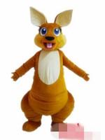 Wholesale Kangaroo Adult Costume - Custom Newly designed kangaroo monster mascot costume Adult Size free shipping