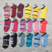 Wholesale Wholesale Ladies Slippers - UA socks 2017 Fashion Lovely Ladies Party Girls Socks contrast colors Harajuku Girls pink One Size Crew Sock letter socks