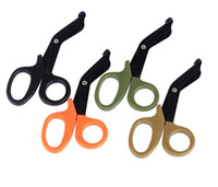 Wholesale first stainless steel - EMT EDC gear tactical rescue scissor trauma gauze emergency first aid Shears outdoor Paramedic bandage tijera rescate
