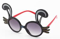 мультфильм очки кролик оптовых-Мода дети вырезать мультфильм кроличьи уши солнцезащитные очки Очки анти-УФ очки Adumbra дети солнцезащитные очки оттенки
