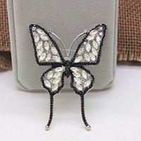 ingrosso inviti di nozze di spilla-Set di gioielli in zirconia China Wholesale Wedding Invitation Butterfly Brooch