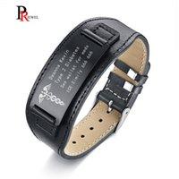 ingrosso personalizzare il braccialetto inciso-Bracciali Avvisi medici per uomo Bracciale avvolgente in vera pelle 6.69