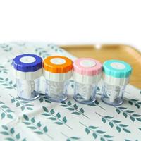 kontaktlinsen farbe freies verschiffen groihandel-Manuell Kontaktlinsenreiniger Unterlegscheiben Reinigungslinsenetui Kontaktlinsen Reinigungsgerät Praktisches Kontaktlinsenreiniger-Etui
