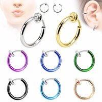 Wholesale ear holes earring for sale - Group buy Qcooljly Fashion Hot Sale Colors Stealth Clip On Earrings For Women Men No Hole Clip Earrings Ear Cuff Nose Clips pairs Accessories