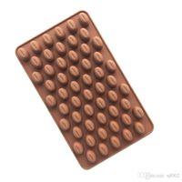 fasulye çikolata toptan satış-Mini Çikolata Fasulye Manuel Bakeware Pişirme Kalıpları Ev Dekorasyon Jöle Puding Sabun Kalıp Mutfak Araçları Saf Renk 3 4wq bb