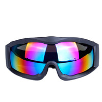 lentes de gafas individuales al por mayor-gafas de montar en bicicleta lente esférica de una sola capa hombres mujeres gafas de esquí profesional equipo de equitación de deportes al aire libre