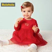 vestidos de red suave al por mayor-2018 Nueva Flor Net Net Cotton Dress Princesa Kids Baby Girls Dulce Vestido Encantador Fiesta Suave Boda Verano Niños Chica