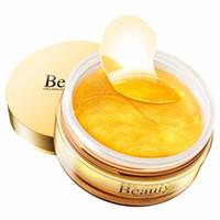 corea de oro al por mayor-Gold Premium First Eye Patch 60pcs Máscara de ojos de Corea Máscara de sueño sin tiempo Parches oculares Círculos oscuros Máscara de cuidado facial