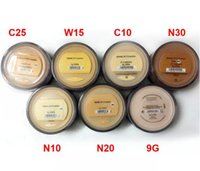 Wholesale wholesale mineral pressed powder - Minerals Foundation original Foundation loose powder 8g C10 fair 8g N10 fairly light 8g medium C25 8g medium beige N20 9g mineral veil