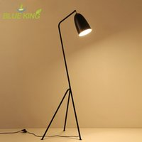 Wholesale Modern Floor Lamp light Gubi Grasshopper Shake triple Floor standing Lamp black color Loft Industrial Standing black white
