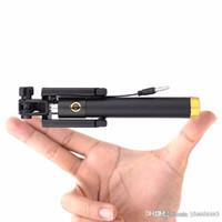 автопортрет selfie handheld stick оптовых-Роскошный Проводной Селфи Стик Выдвижной Портативный Монопод Fold Автопортрет Держатель для iPhone 5S 6 OnePlus 3 Huawei P8 lite Android