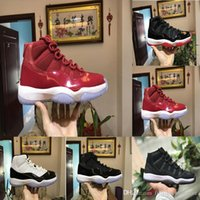 Wholesale Lime Green Basketball Shoes - High Quality 11 11s Space Jam Bred Concord Basketball Shoes Men Women 11s Gym Red Midnight Navy Gamma Blue 72-10 Sneakers With Box