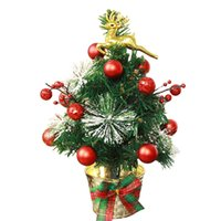 Wholesale xmas decoration window resale online - Christmas Tree cm Golden Elk Decorate Artificial Flocking Christmas Tree Multicolor Holiday Xmas Window Christmas Decorations for Home