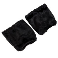сапоги для ног оптовых-Fluffies Fluffy Furry Leg Warmers Boots Covers Rave Furries Black