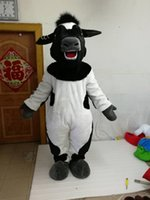 Wholesale Pictures Cows - high quality Real Pictures Deluxe designed Cow mascot costume Adult Size free shipping