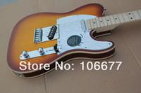 Wholesale electric guitars tele sunburst for sale - Hot Guitar Custom Shop F Telecaster Nature Wood Light Brown Electric Guitar Tele Standard Guitar In Stock