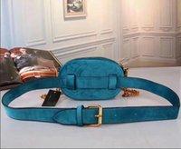 Wholesale Red Hot Velvet - Hot sale 2018 brand new genuine belt bag famous designer velvet waist bag high quality Waistpacks with long strap