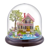 Wholesale handmade gifts for birthday girls for sale - Group buy Doll House DIY Miniature Dollhouse Furnitures Wooden Handmade House For Dolls Birthday Gift Toys For Children Girls