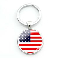 chaveiro da bandeira venda por atacado-Moda eua bandeira americana chaveiros para uma mulher saco bandeira do suriname chaveiro mulheres bandeira turca cabochão de vidro chaveiro